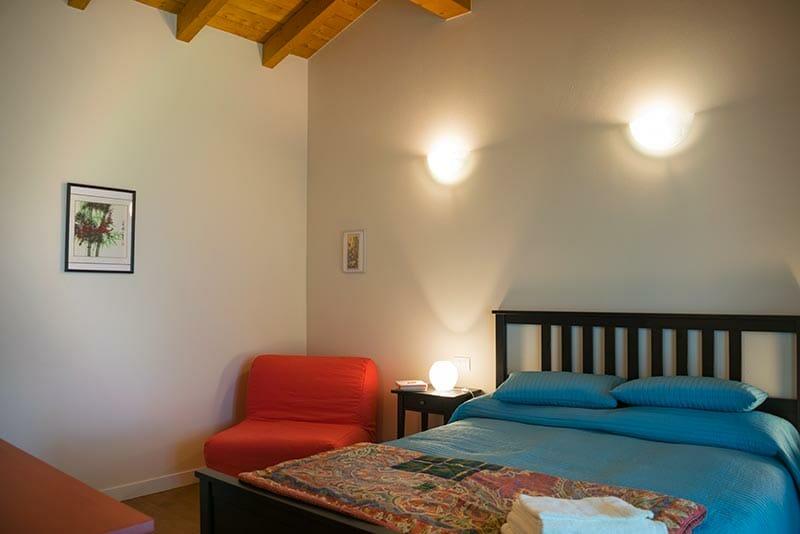 Camera matrimoniale del bnb Casa Mallarino di Albareto