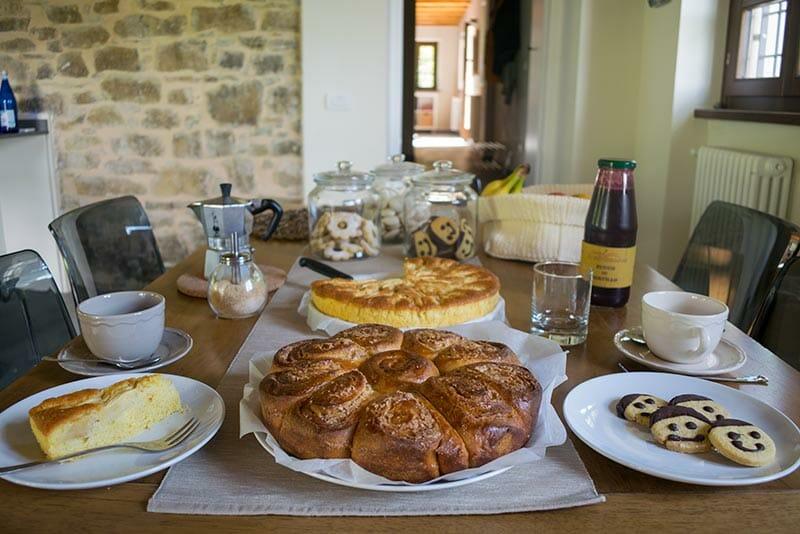 prodotti a km 0 al bed and breakfast Casa Mallarino
