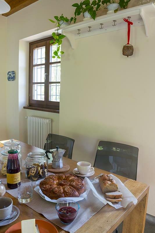 La colazione del bnb Casa Mallarino